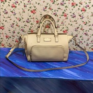 Kate Spade Taupe Pebbled Leather Shoulder Bag